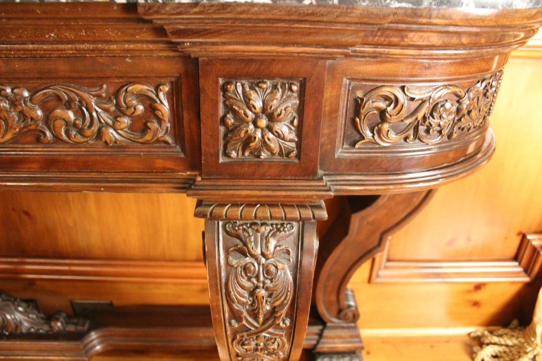 Victorian Style Marble Topped Console Table - 7