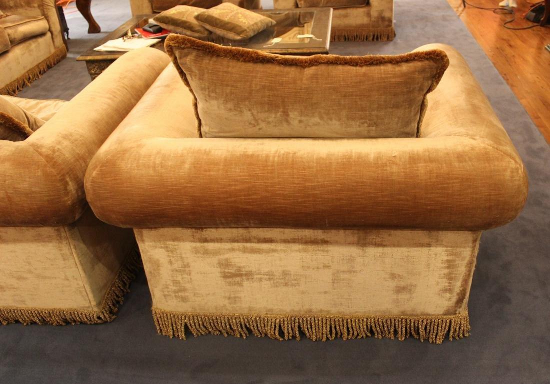 Beige Velvet Armchairs (2) - 3