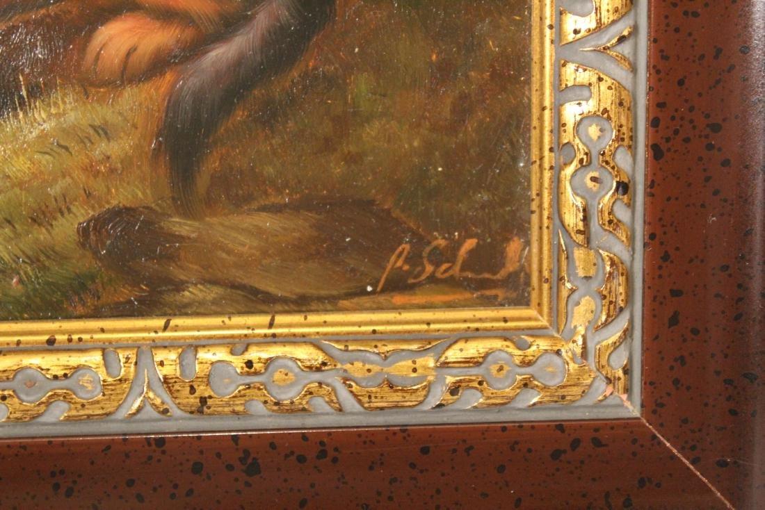 Oil on Panel. Dachsund - 2