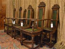 Jacobean Style Carved Dining  Chairs (8)