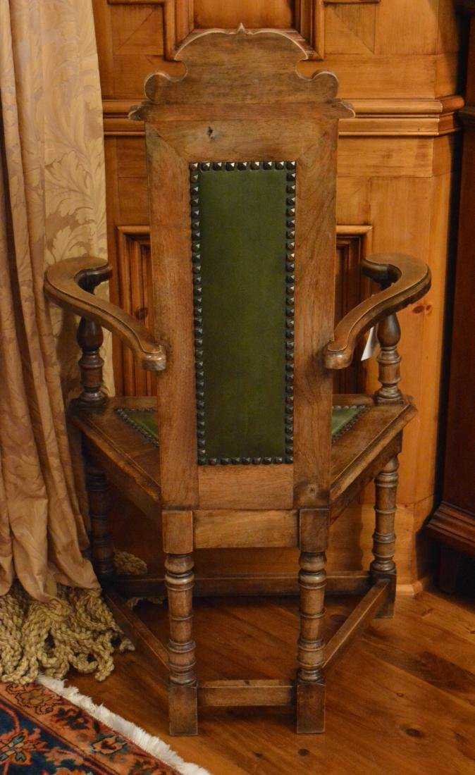 Jacobean Style Carved Dining  Chairs (8) - 3