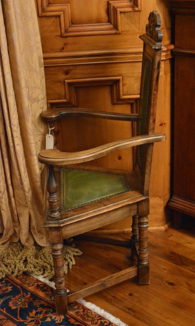 Jacobean Style Carved Dining  Chairs (8) - 4