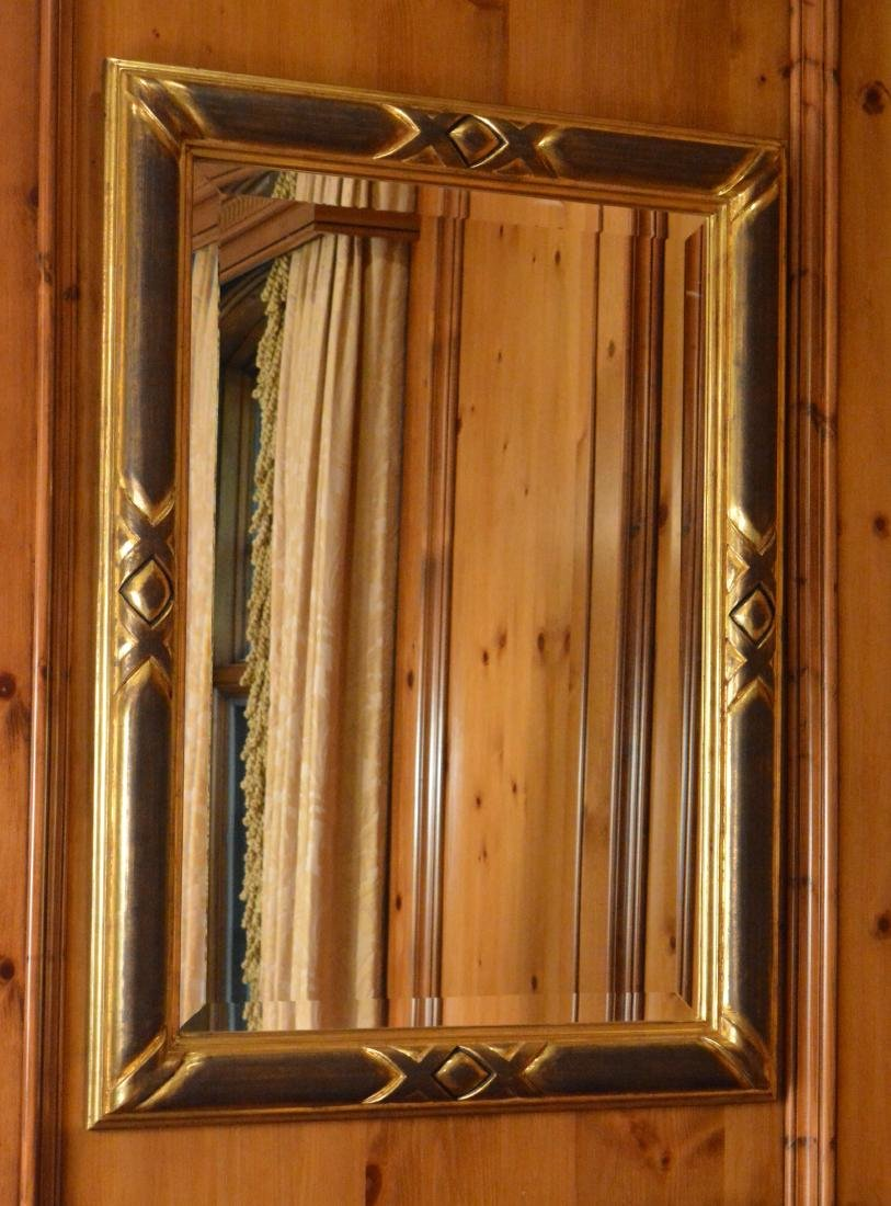 Pair of Ebonized and Giltwood Mirrors - 3