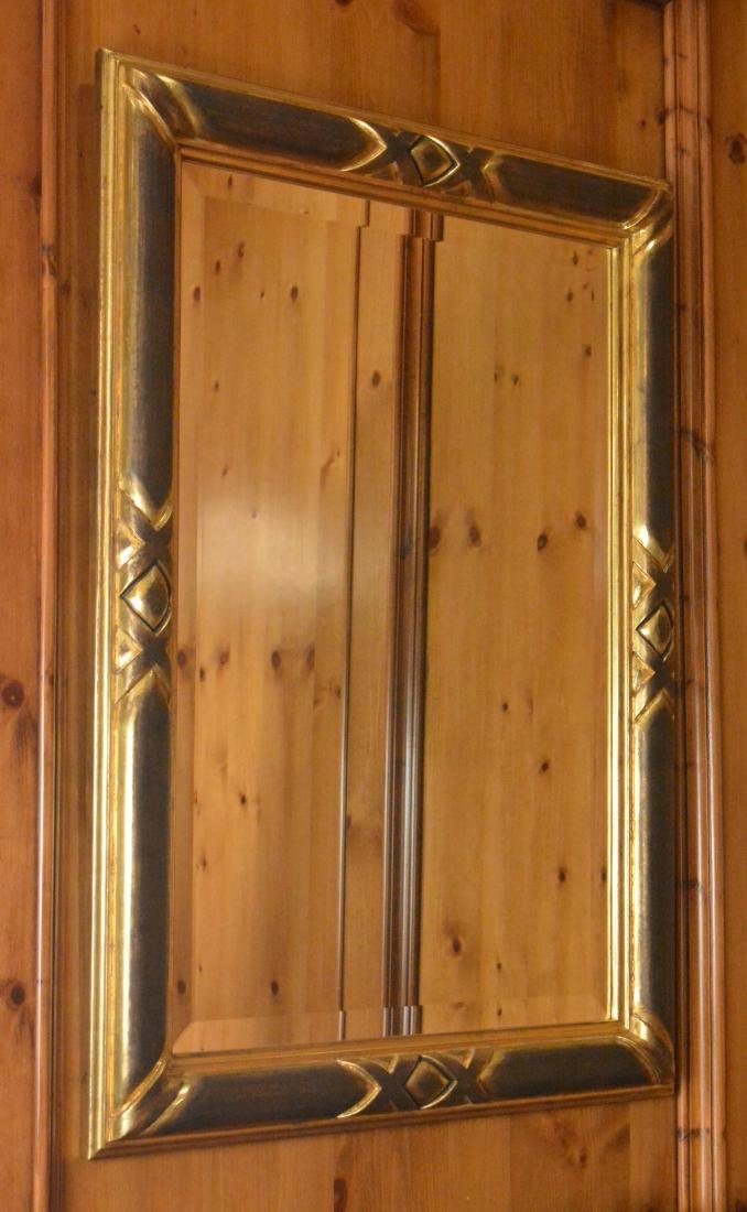 Pair of Ebonized and Giltwood Mirrors - 4