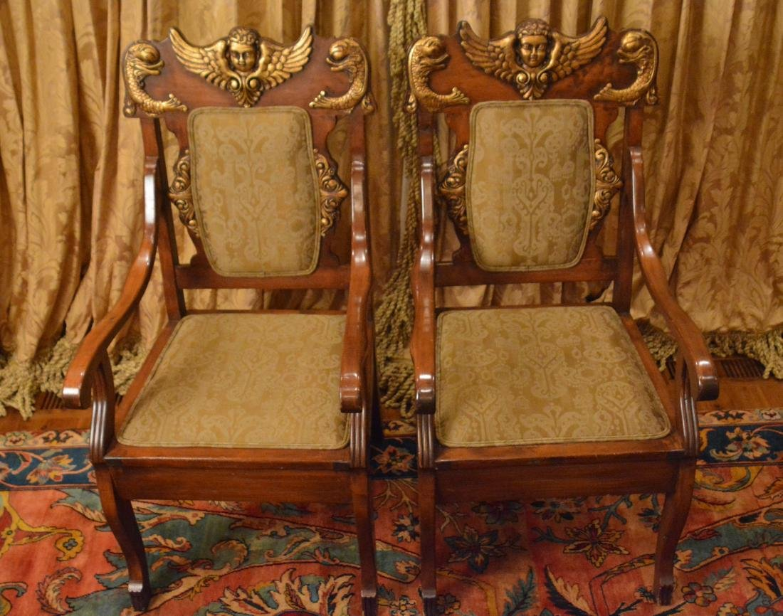 Pair of Spanish Renaissance Revival Armchairs