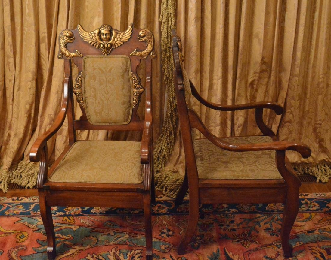 Pair of Spanish Renaissance Revival Armchairs - 2