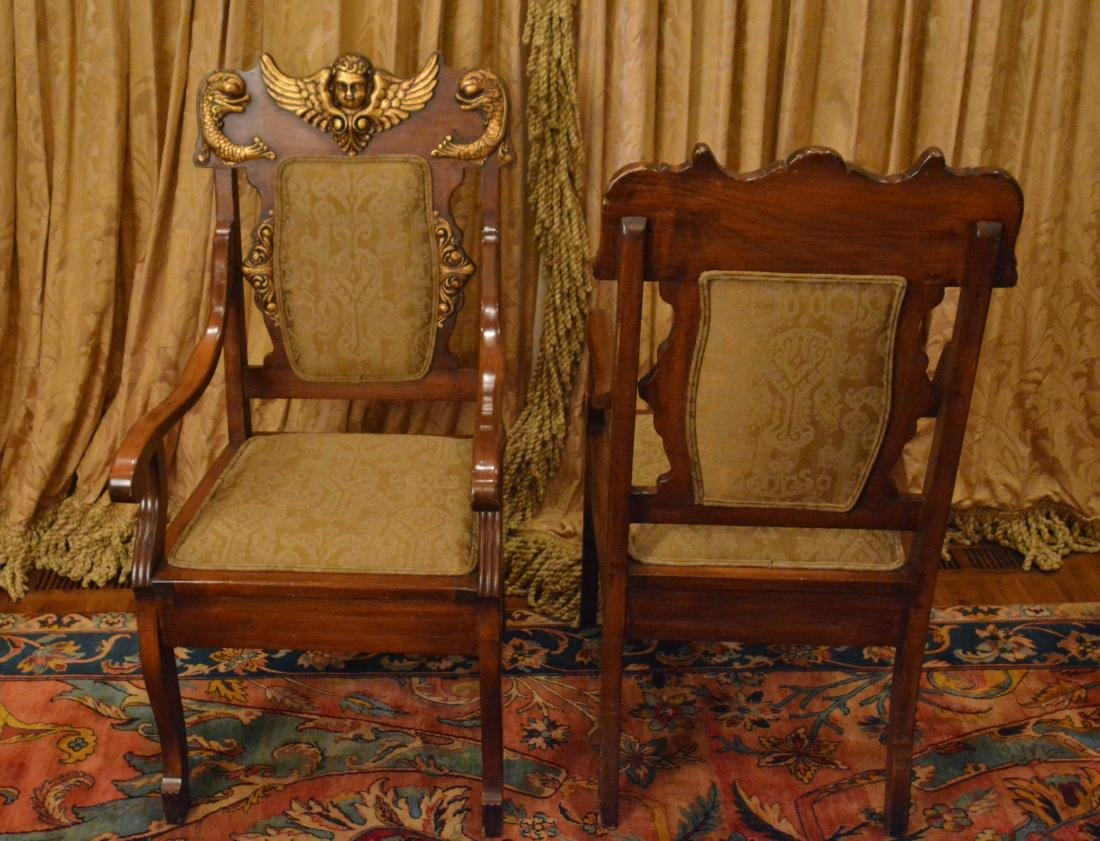Pair of Spanish Renaissance Revival Armchairs - 4