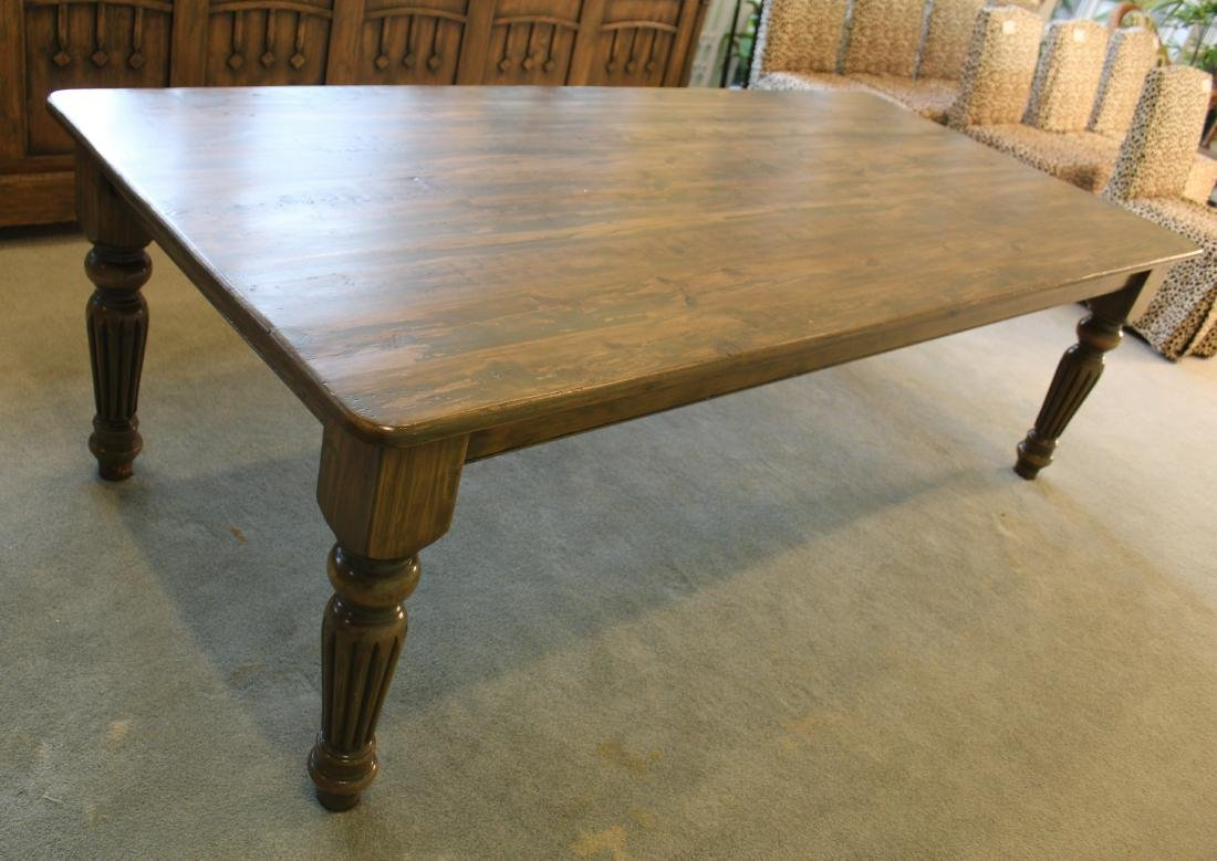 Country Dining Table. Distressed Pine