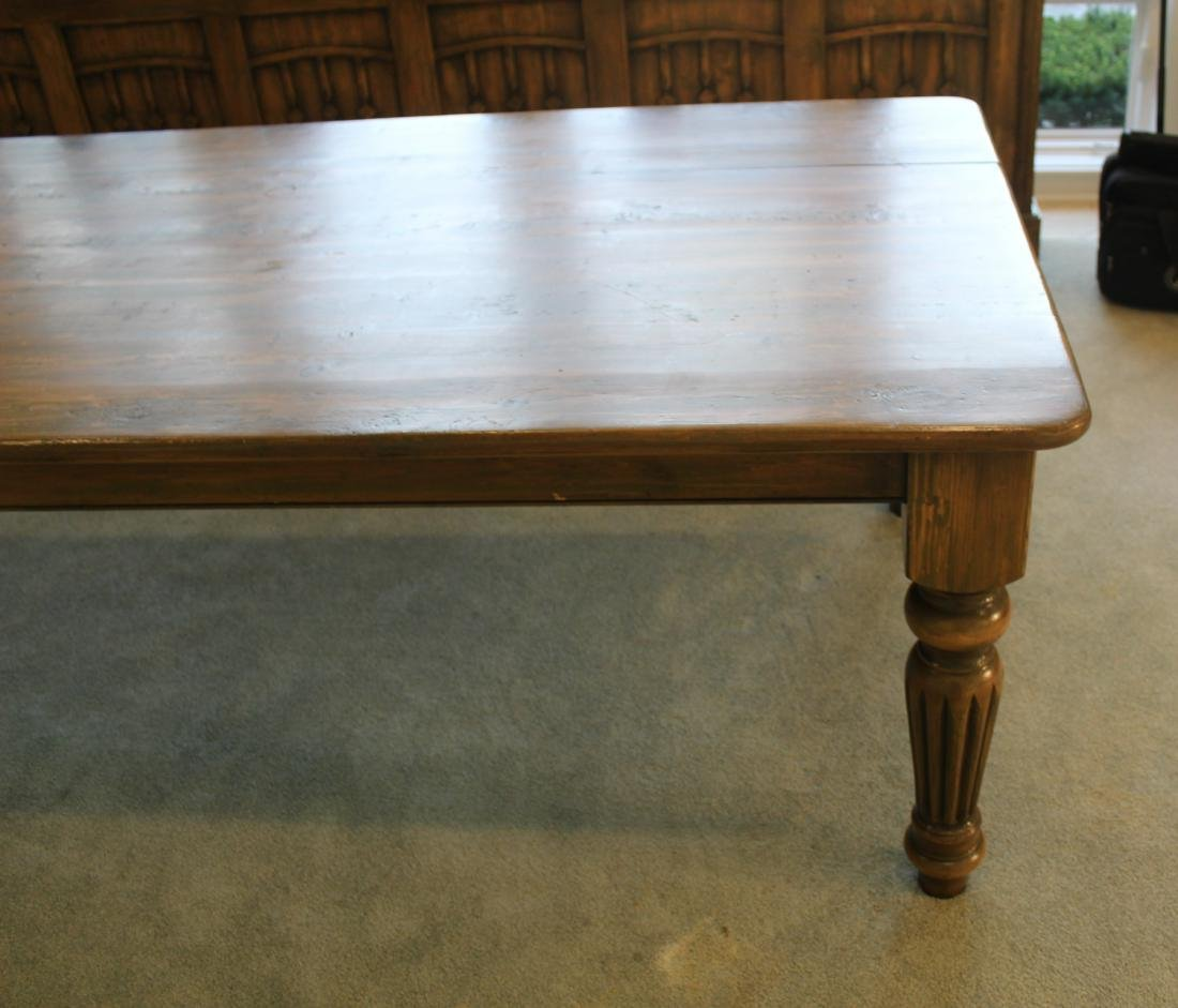Country Dining Table. Distressed Pine - 2