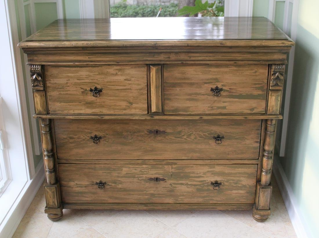 Country Chest of Drawers. Distressed Pine