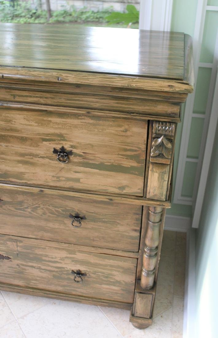 Country Chest of Drawers. Distressed Pine - 2