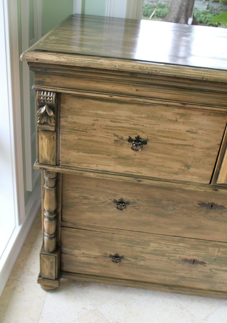 Country Chest of Drawers. Distressed Pine - 3