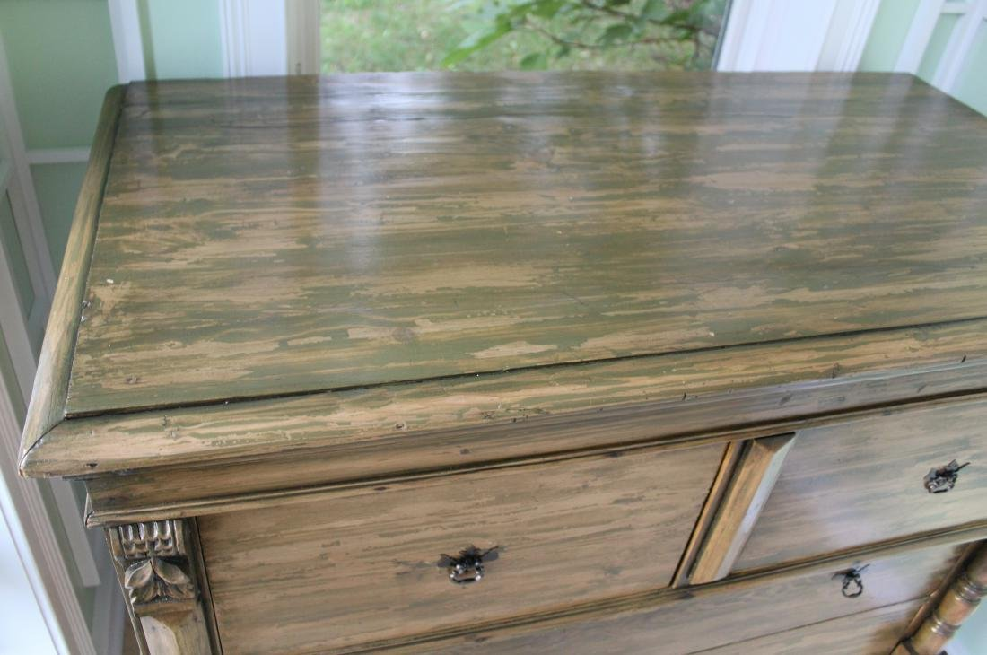 Country Chest of Drawers. Distressed Pine - 4