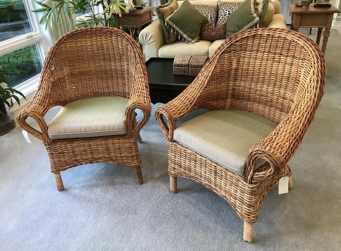 Pair of Wicker Parlor Chairs