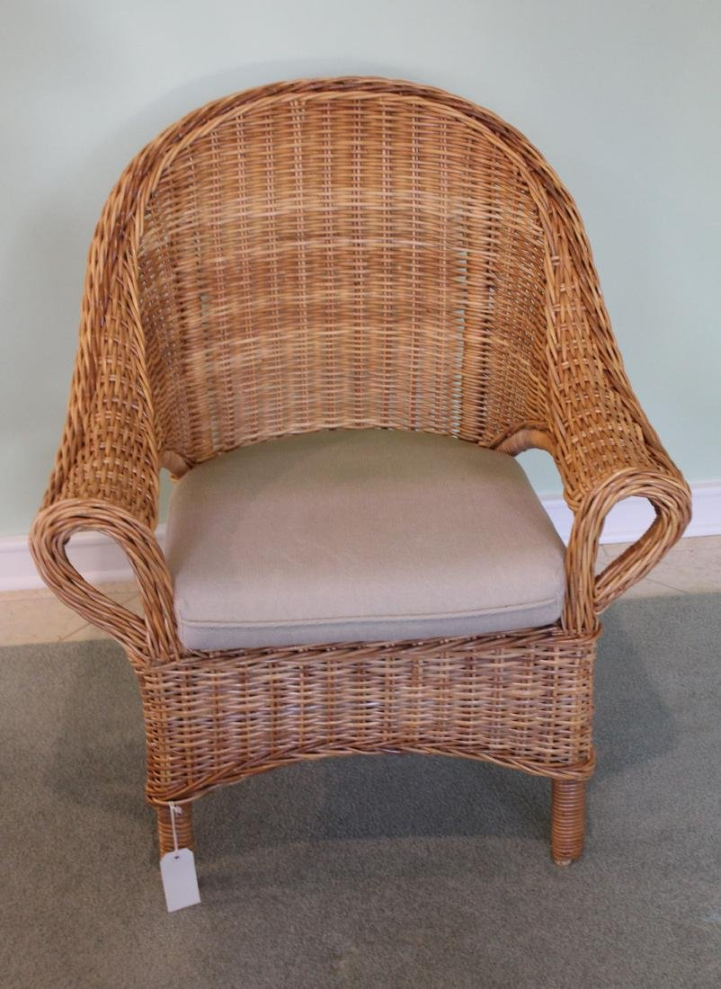 Pair of Wicker Parlor Chairs - 2