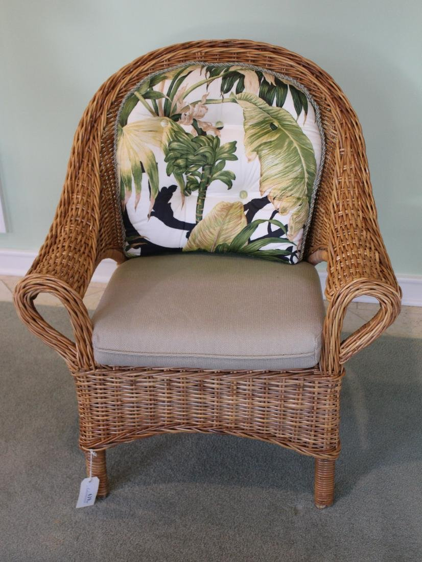 Pair of Wicker Parlor Chairs - 3
