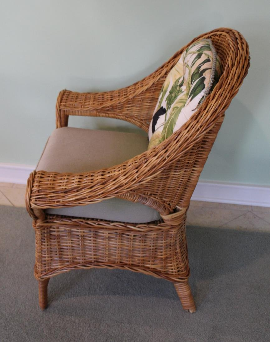 Pair of Wicker Parlor Chairs - 4