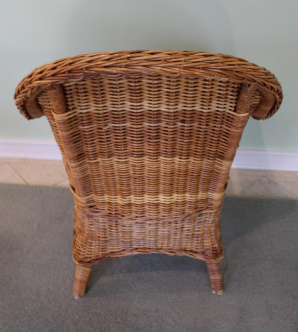 Pair of Wicker Parlor Chairs - 5