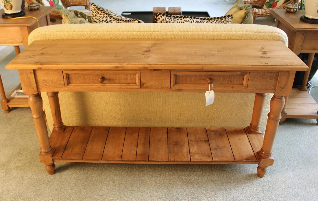 Pair of Pine Country Console Tables