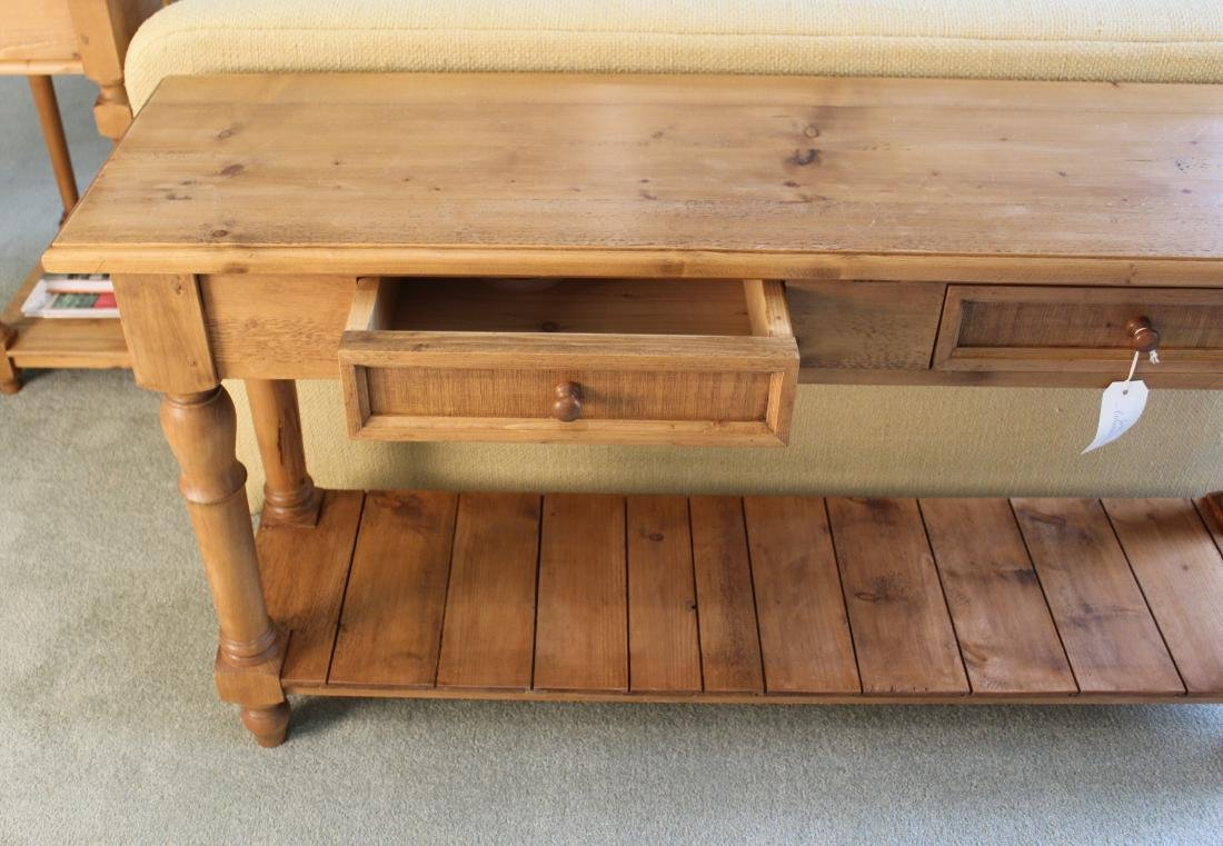 Pair of Pine Country Console Tables - 3