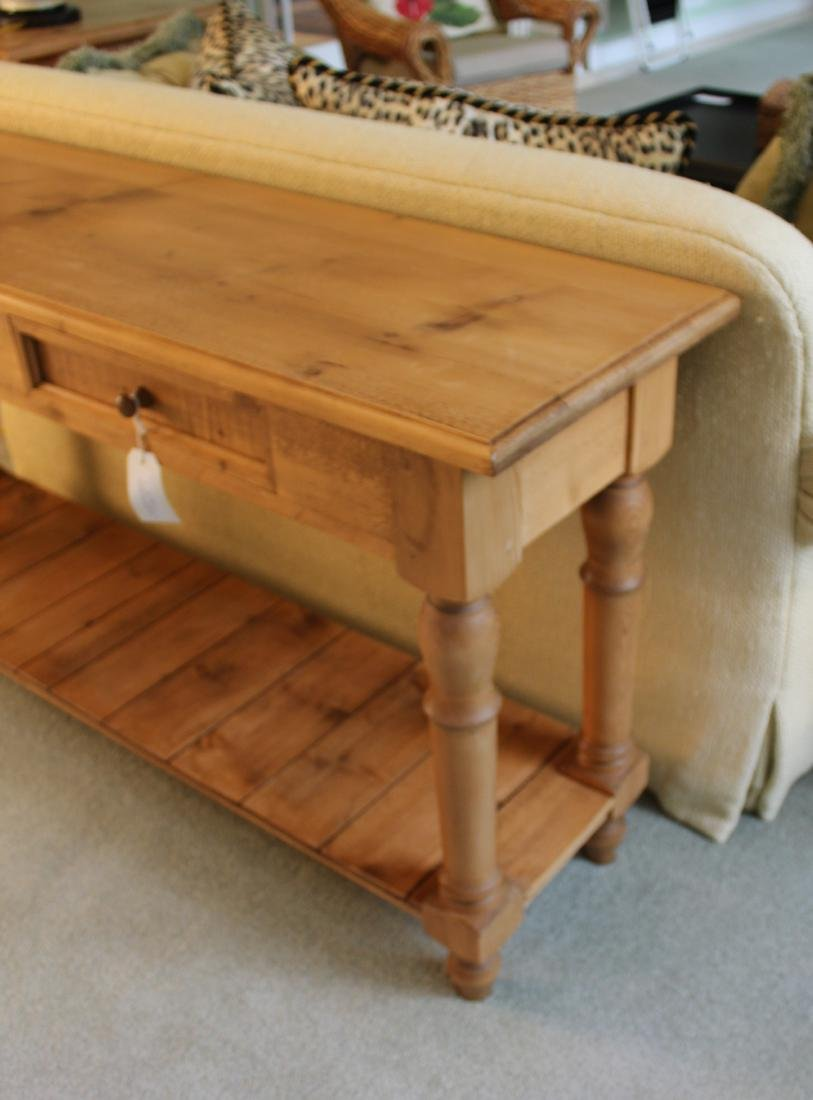 Pair of Pine Country Console Tables - 4