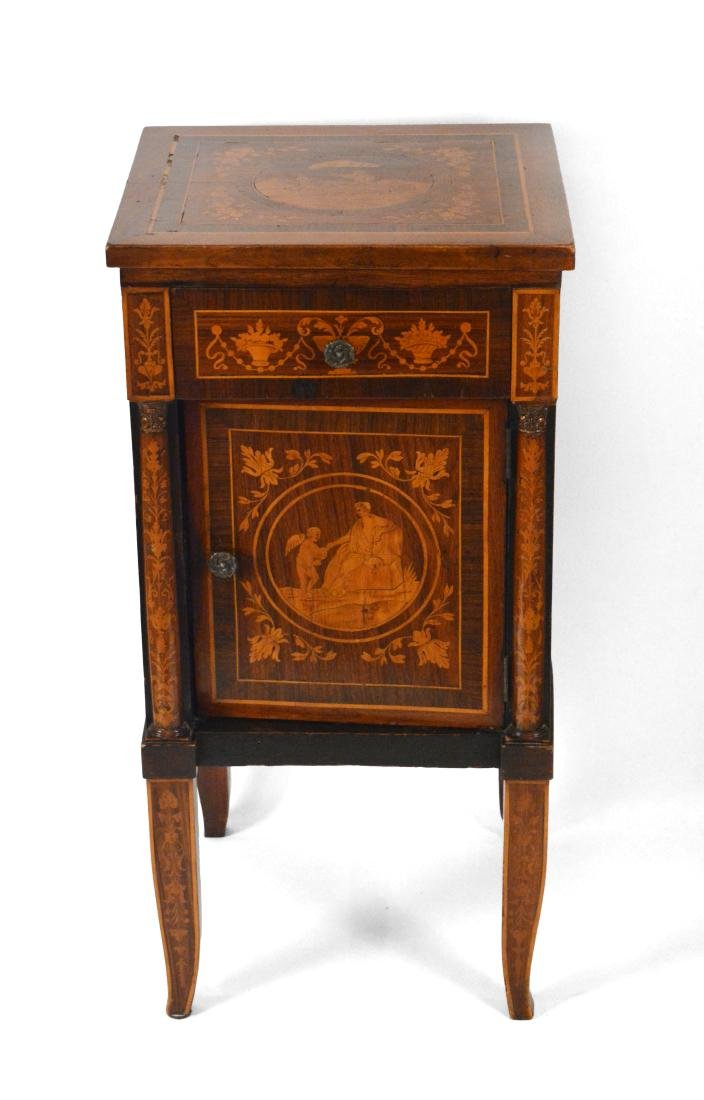 19th Century Satinwood Marquetried Nightstand