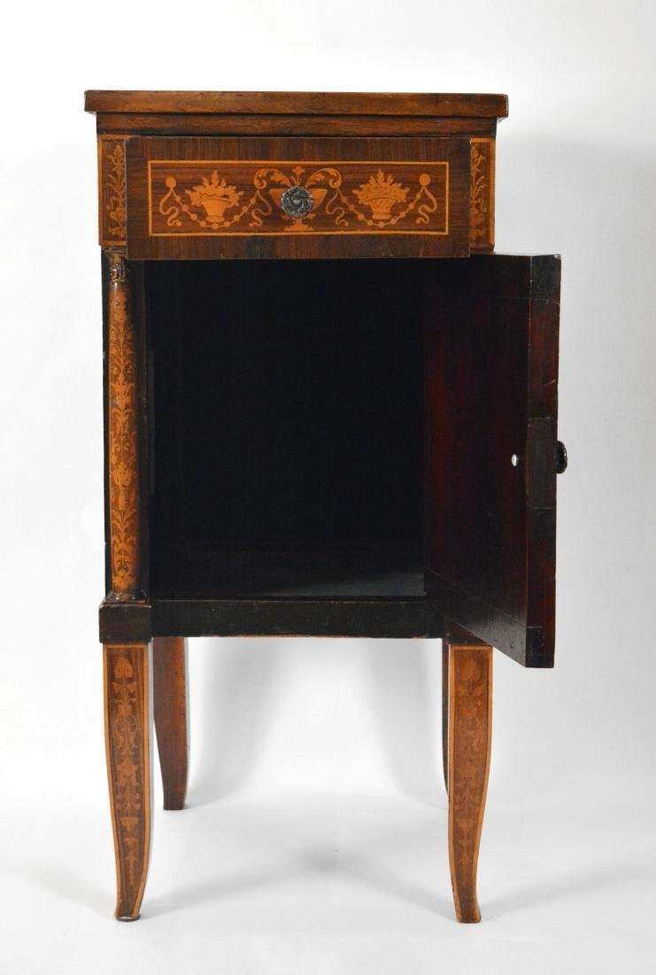 19th Century Satinwood Marquetried Nightstand - 3