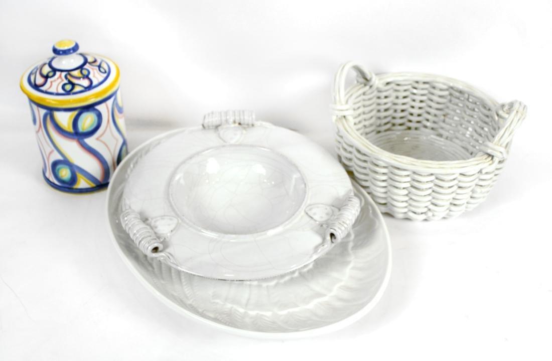 White Italian Pottery Kitchen Items