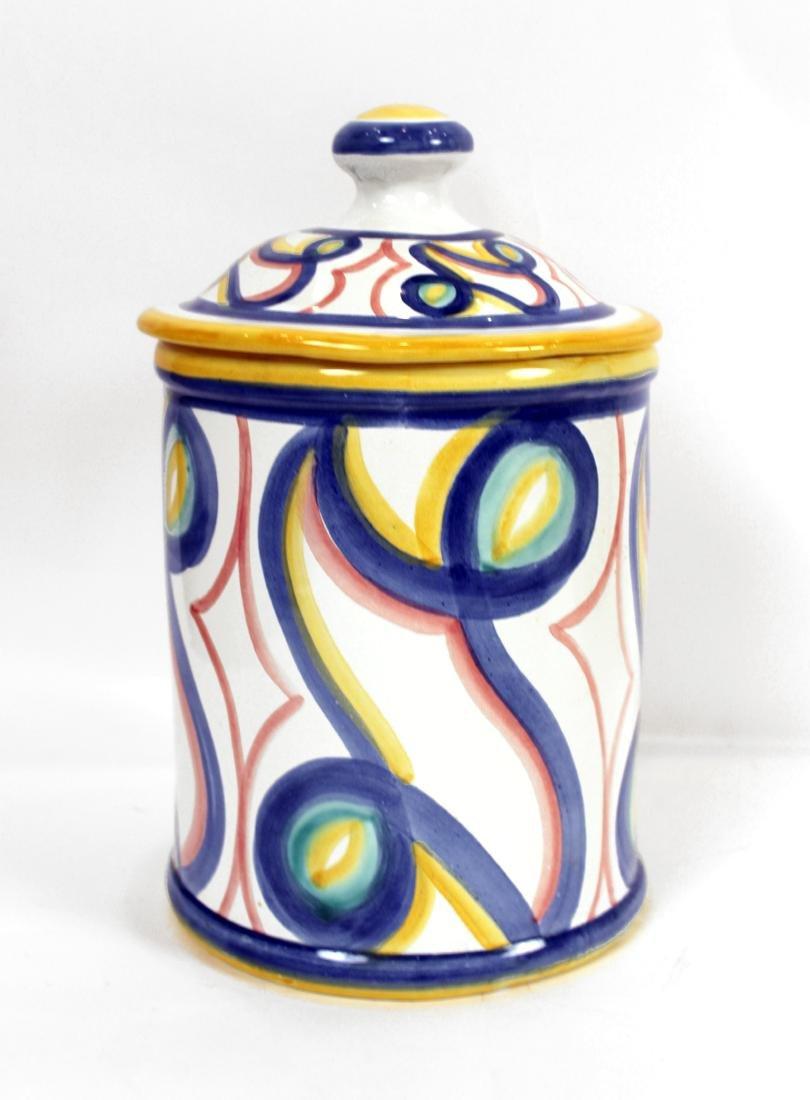 White Italian Pottery Kitchen Items - 2