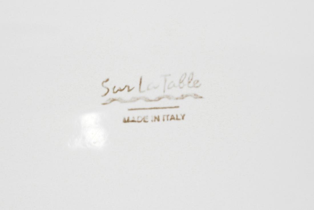 White Italian Pottery Kitchen Items - 9