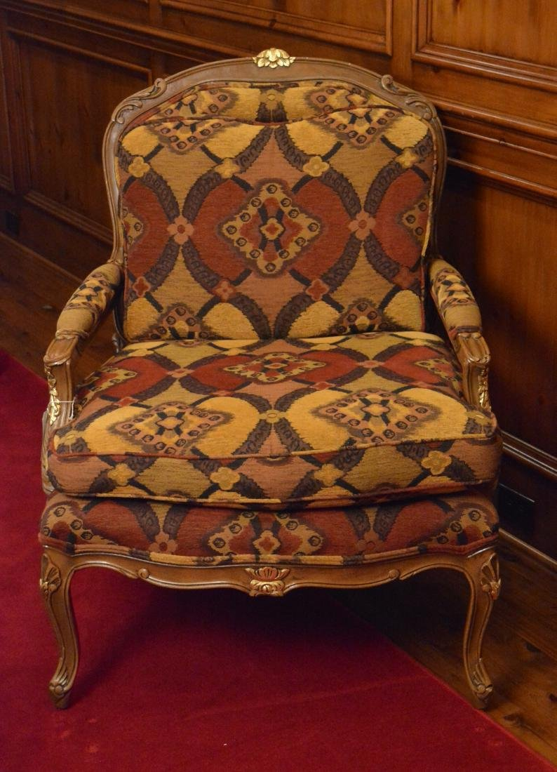 Louis XV Style Bergere With Ottoman - 2