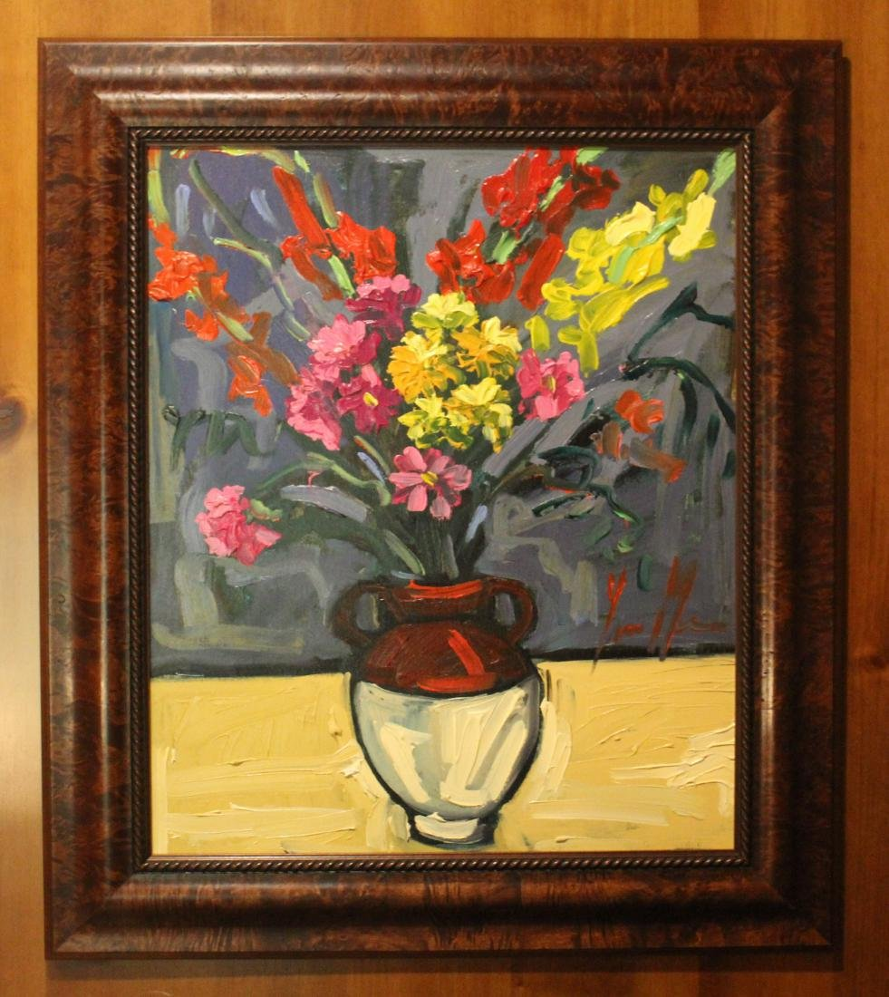 Oil. Abstract Floral