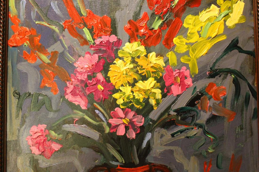 Oil. Abstract Floral - 4