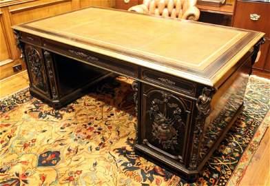 19th Century Napoleon III Partner's Desk