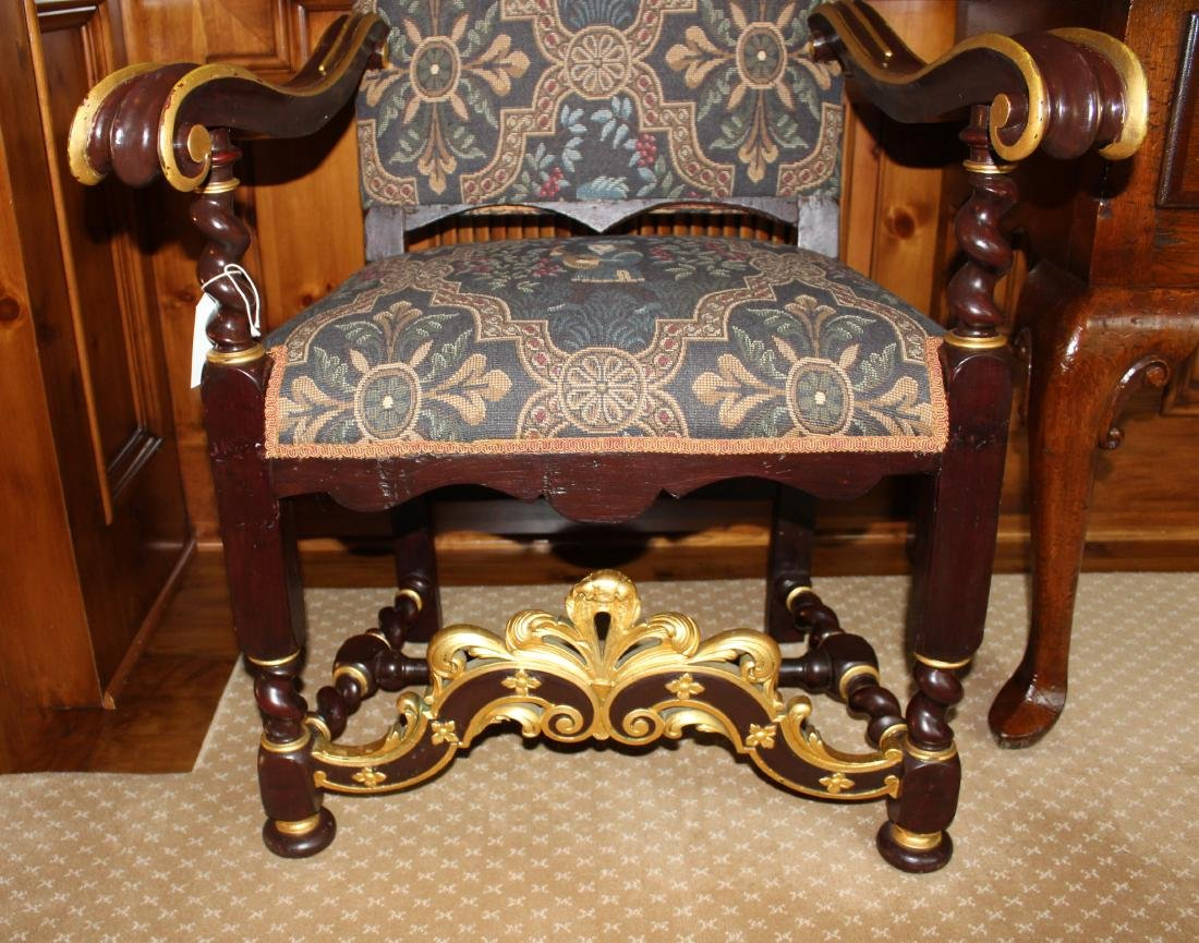 Pair of Louis XIV Style Armchairs - 2