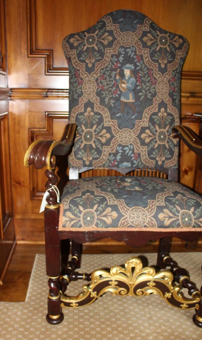 Pair of Louis XIV Style Armchairs - 3