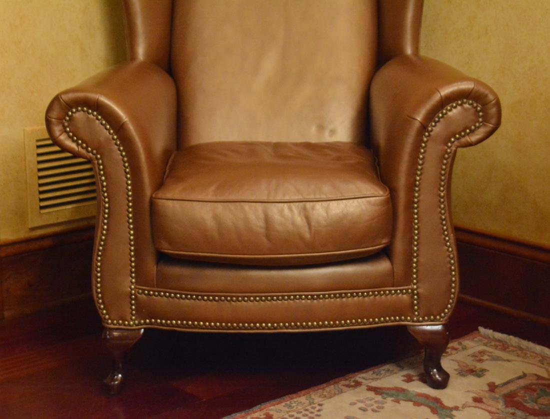 Leather Wing Chair - 2