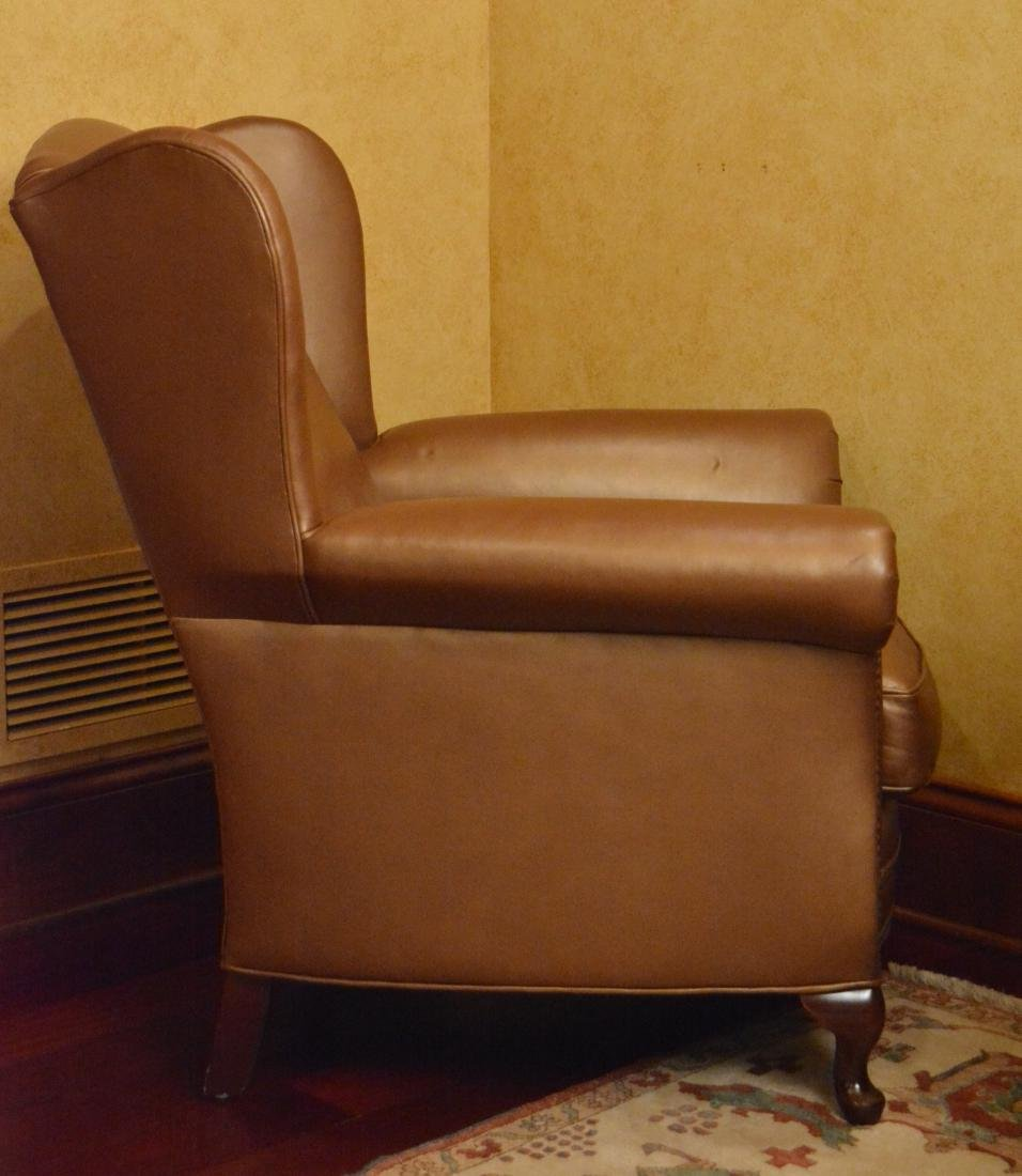 Leather Wing Chair - 3