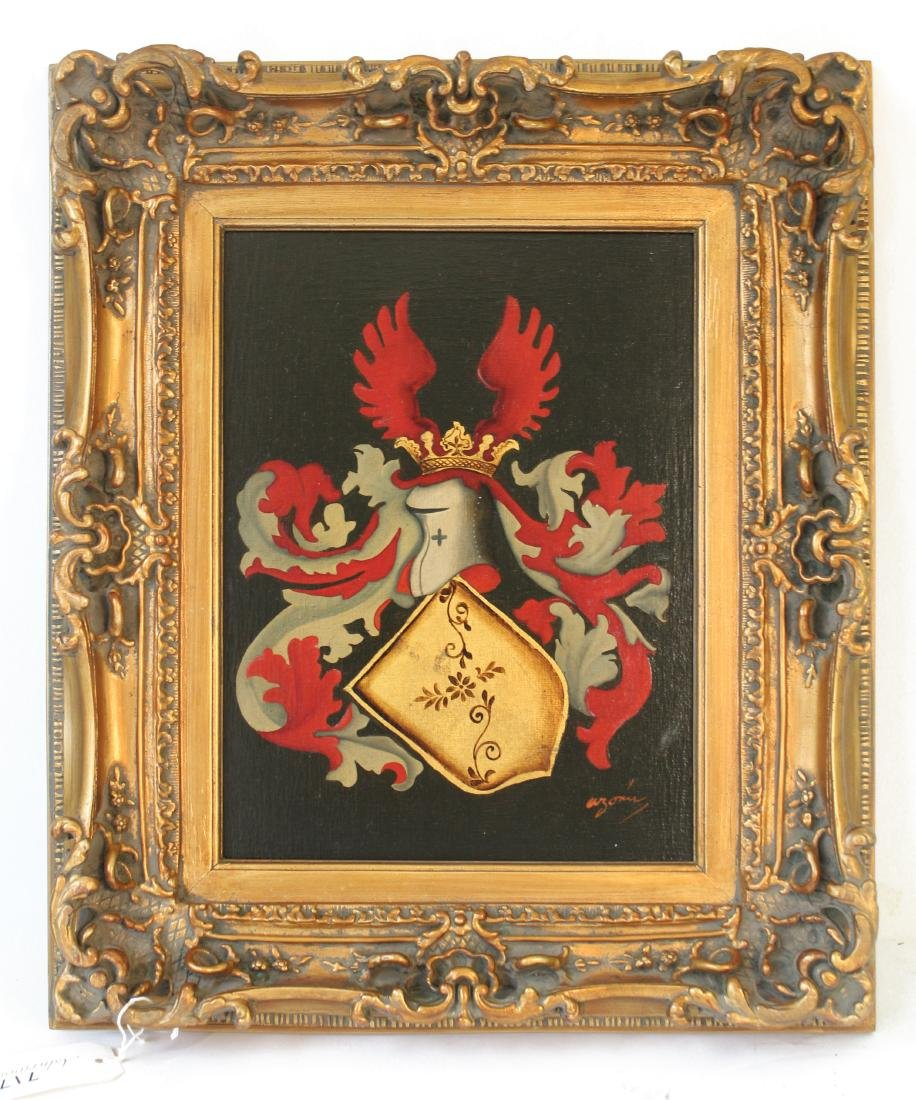 Arymin, Pair of Oils. Coats of Arms. - 2