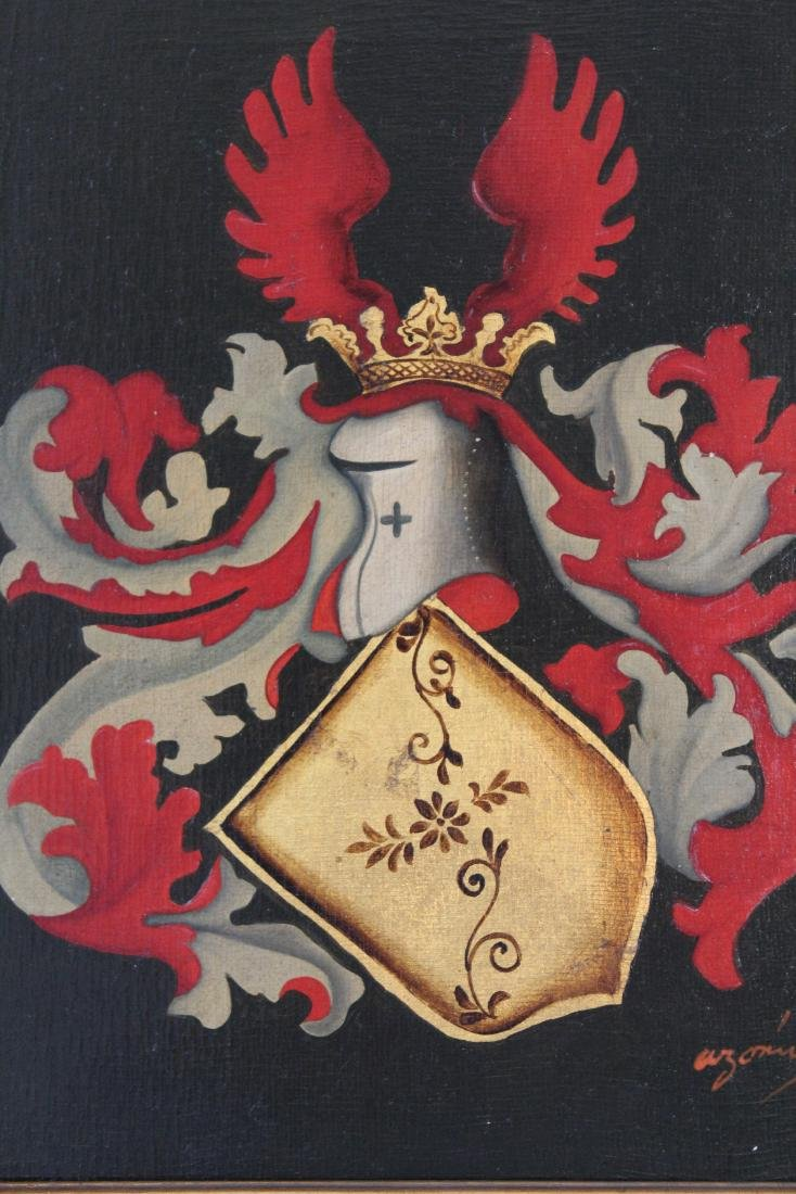 Arymin, Pair of Oils. Coats of Arms. - 3