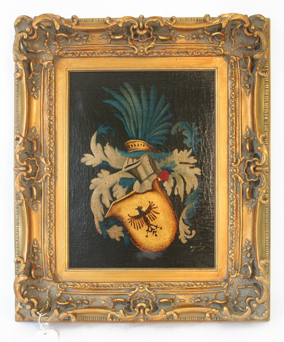 Arymin, Pair of Oils. Coats of Arms. - 6