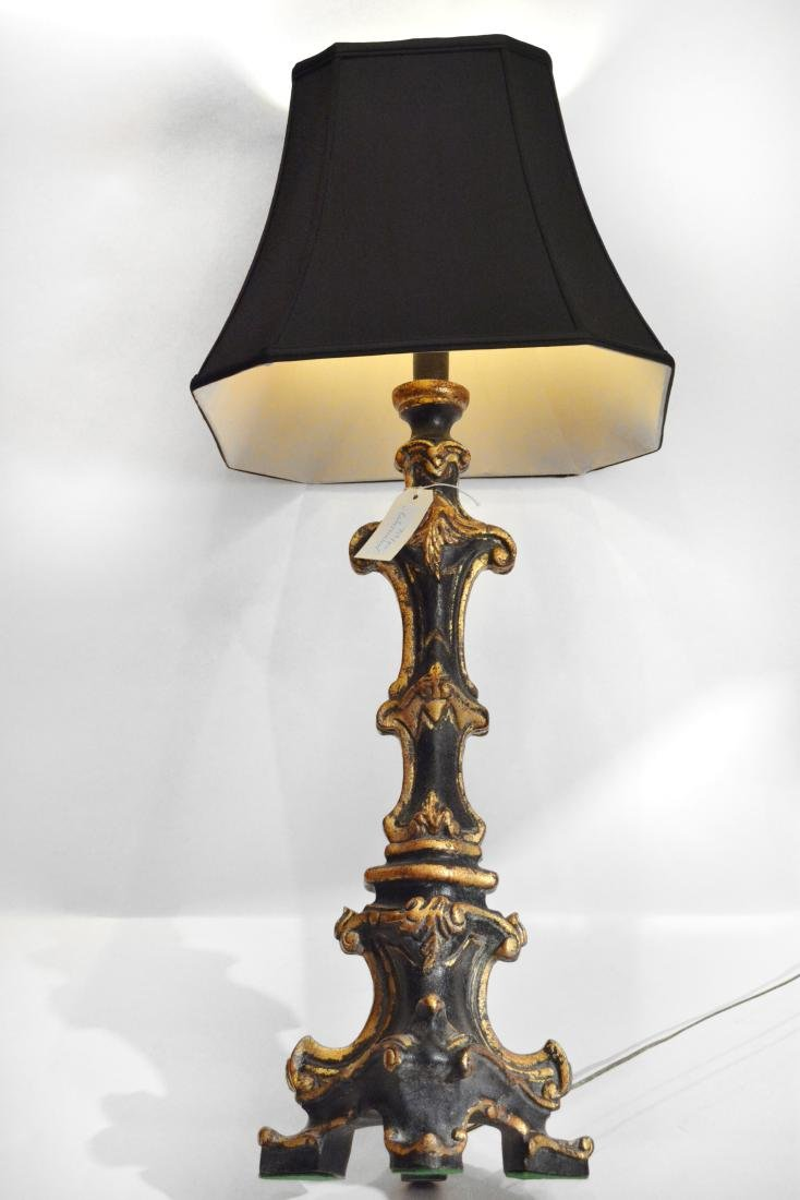 Pair of Tall Gothic Style Sideboard Lamps - 2