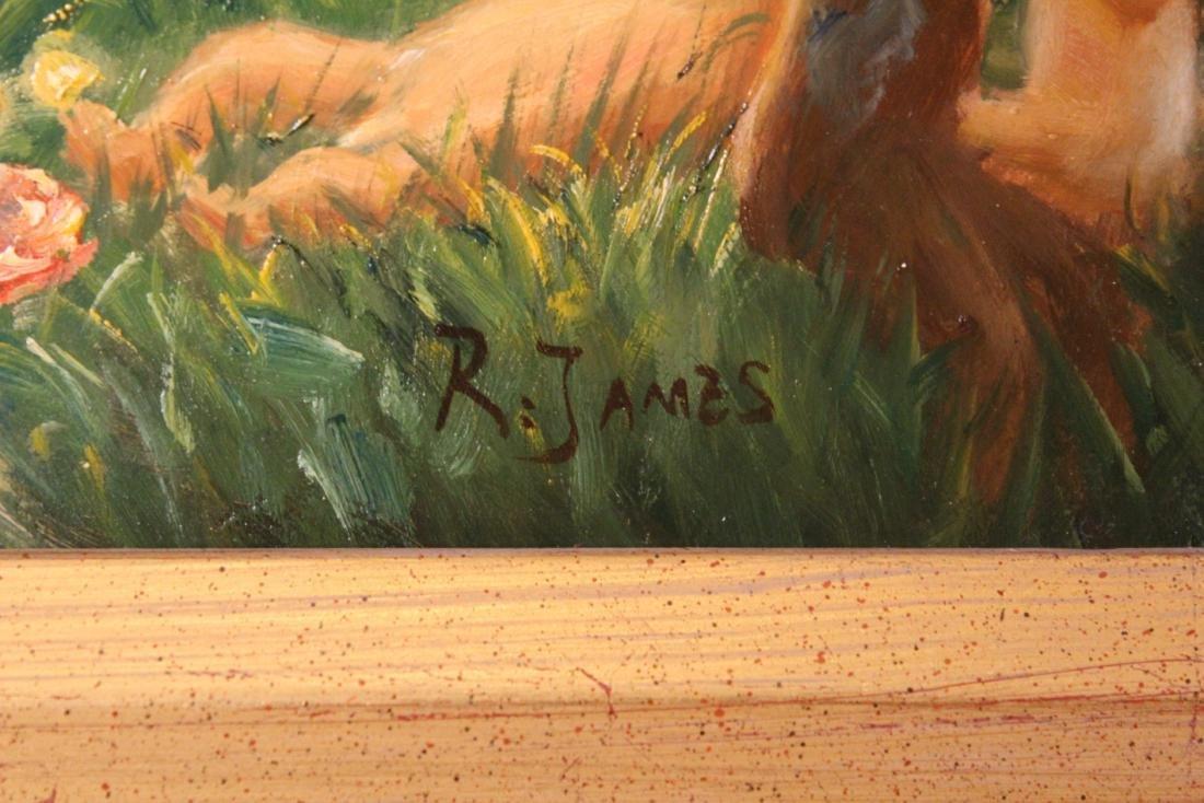 R. James, Oil. Classical Scene. - 3