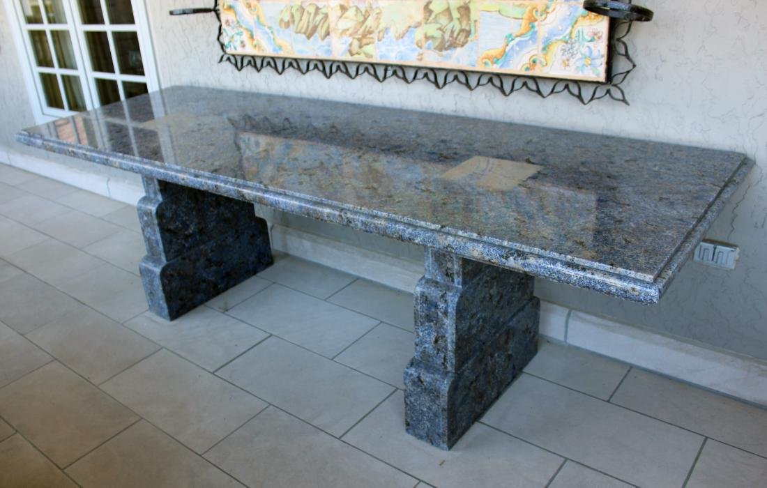 Large Custom Blue Granite Table