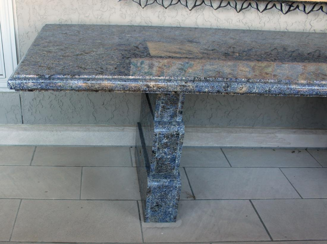 Large Custom Blue Granite Table - 2