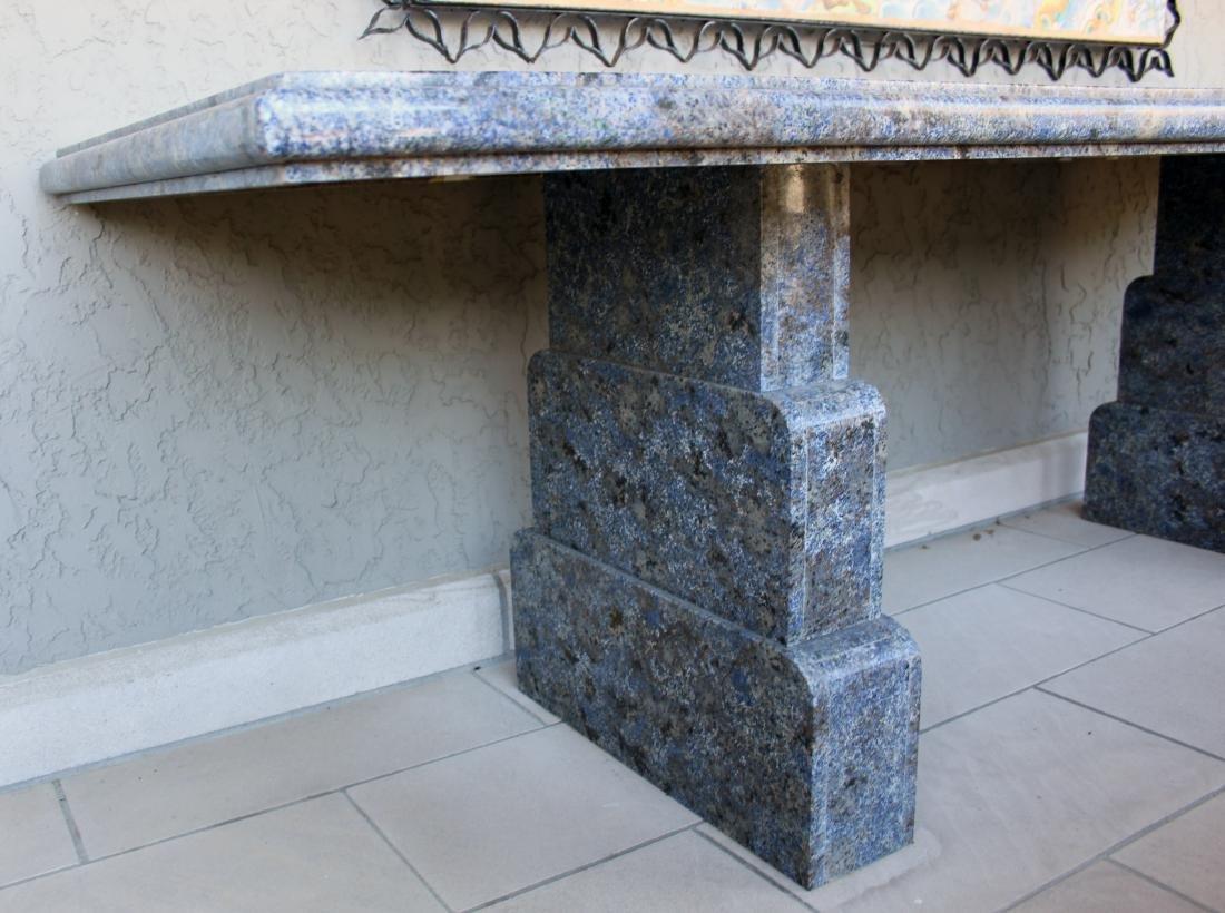 Large Custom Blue Granite Table - 3