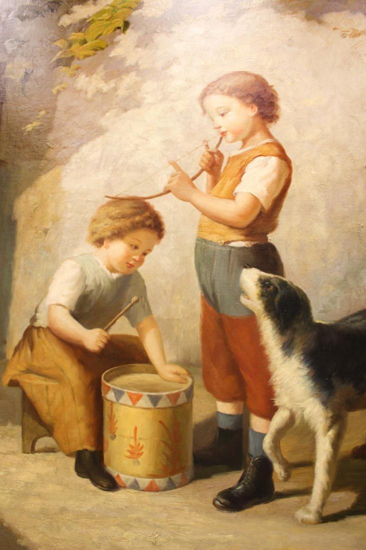 Calvin Broome, Oil. Young Boys - 2
