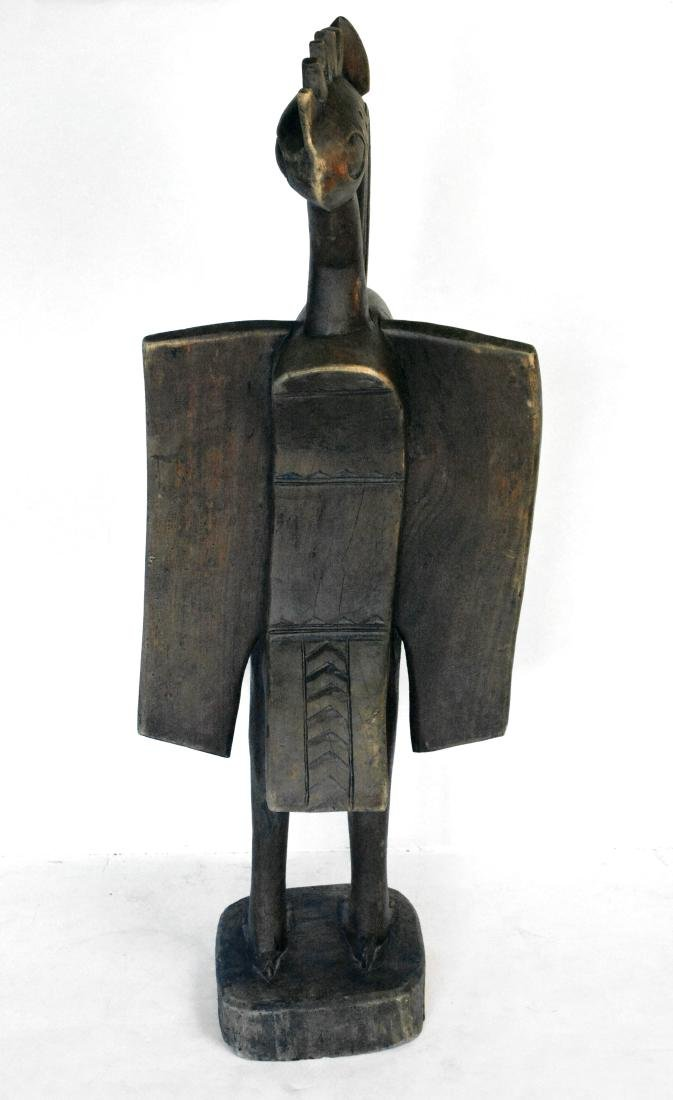 African Sunufo Carved Bird - 3