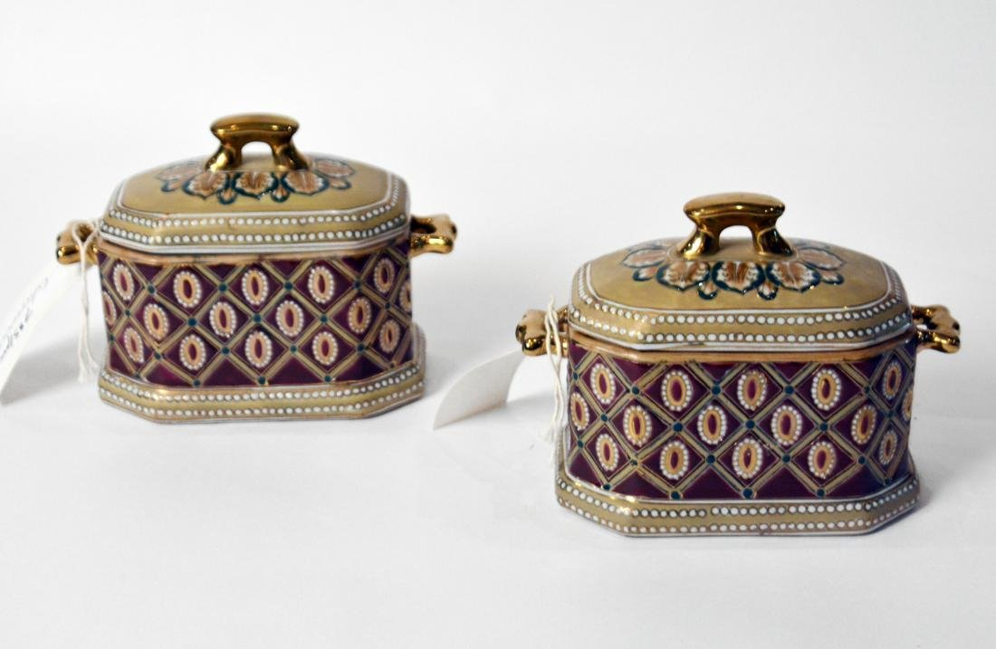 Pair of Chinese Ceramic Boxes