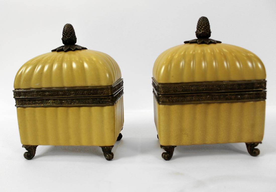 Pair of French Style Dresser Boxes